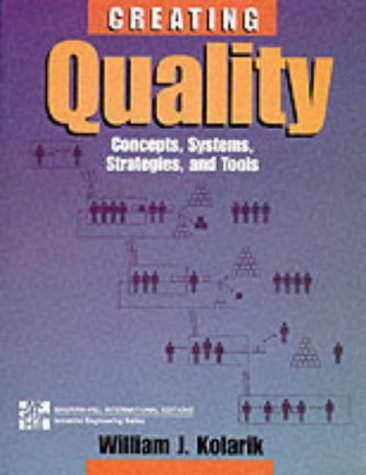 9780071139359: Quality: Systems, Concepts, Strategies and Tools (McGraw-Hill International Editions: Industrial Engineering Series)