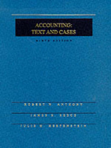 9780071140126: Accounting: Text and Cases (The Irwin Graduate Accounting Series)