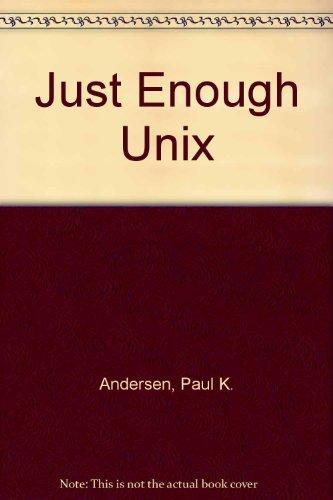 9780071140263: Just Enough Unix