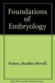9780071140935: Foundations of Embryology