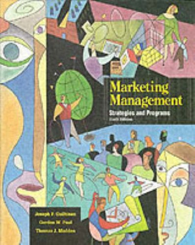 9780071142557: Marketing Management: Strategies and Programs