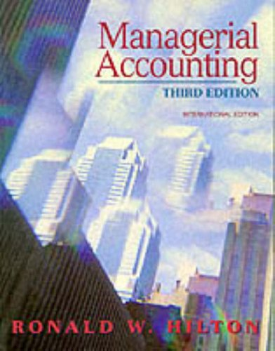 9780071143134: Managerial Accounting