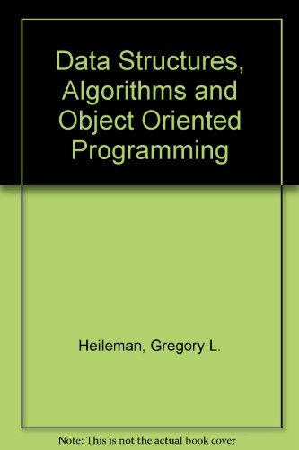 9780071143226: Data Structures, Algorithms and Object Oriented Programming
