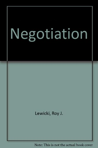 Lewicki negotiation pdf