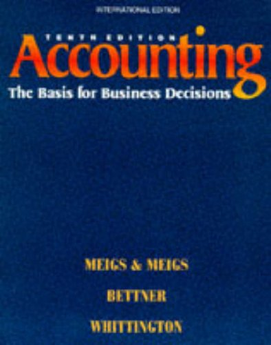 9780071145053: Accounting: The Basis for Business Decisions