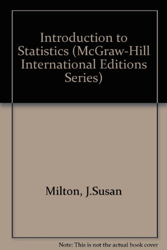 9780071145237: Introduction to Statistics