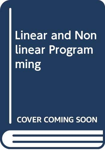 9780071145374: Linear and Nonlinear Programming