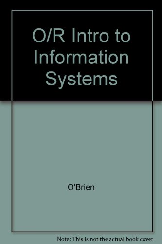 9780071145541: O/R Intro to Information Systems