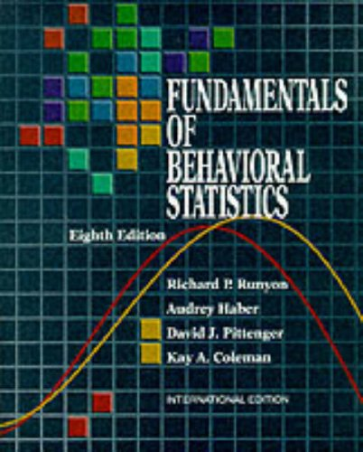 9780071146555: Fundamentals of Behavioral Statistics