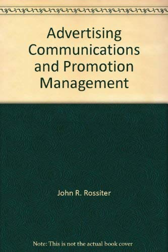 9780071146678: Advertising Communications and Promotion Management