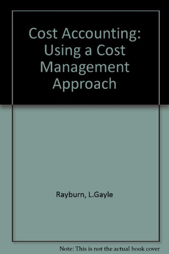 9780071146814: Cost Accounting: Using a Cost Management Approach