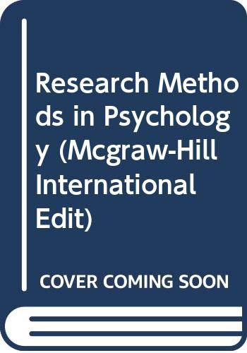 9780071147101: Research Methods in Psychology (McGraw-Hill International Editions Series)
