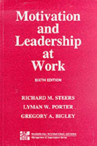 9780071147309: Motivation and Leadership at Work