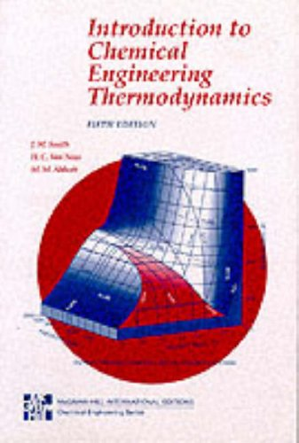 9780071147378: Introduction to Chemical Engineering Thermodynamics (McGraw-Hill International Editions Series)