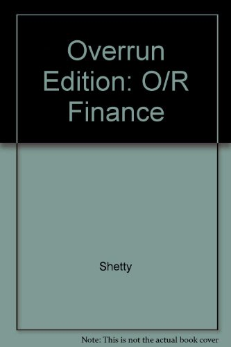 9780071147545: Overrun Edition: O/R Finance