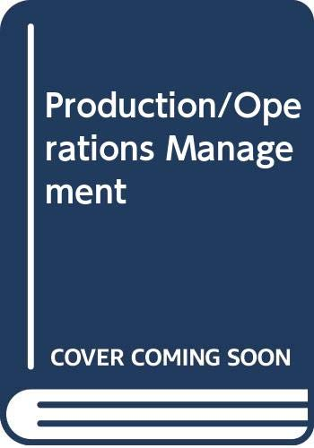 9780071147705: Production and Operations Management