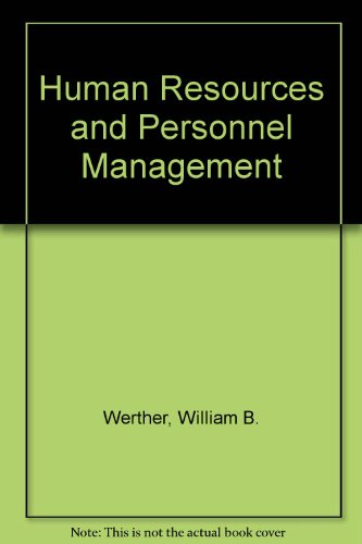9780071148498: Human Resources and Personnel Management