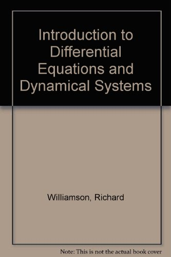 9780071148566: INTRODUCTION TO DIFFERENTIAL EQUATIONS AND DYNAMIC SYSTEMS
