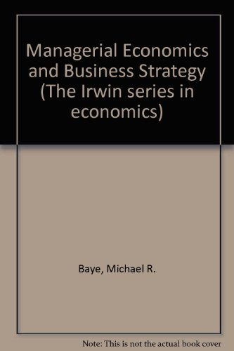 9780071148979: Managerial Economics and Business Strategy