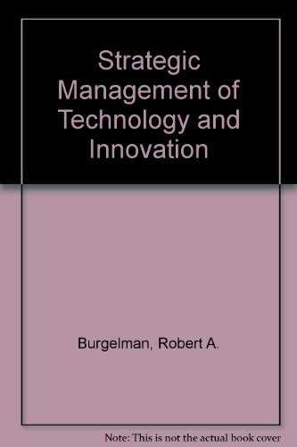 9780071149464: Strategic Management of Technology and Innovation