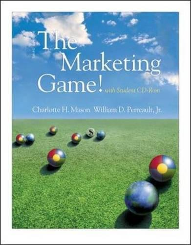 9780071150460: The Marketing Game! (with student CD ROM)