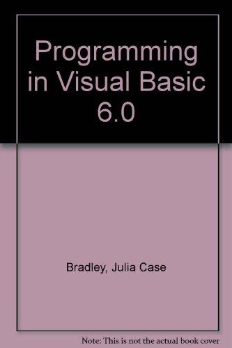 9780071150927: Programming in Visual Basic 6.0