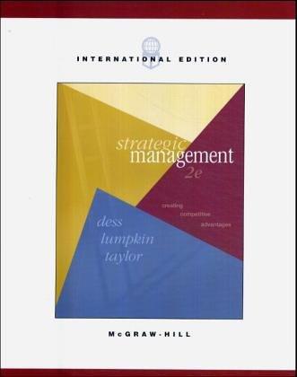 9780071151061: Strategic Management: Creating Competitive Advantage