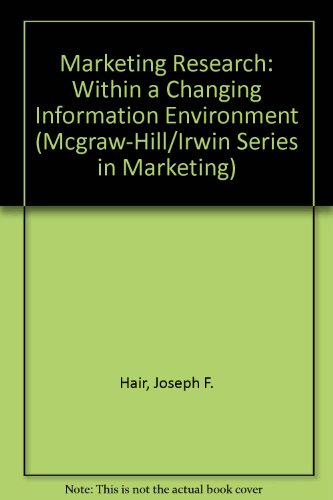 Marketing Research: Within a Changing Information Environment: Hair, Joseph F.