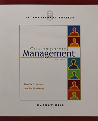 9780071151214: Contemporary Management, Third International Edition