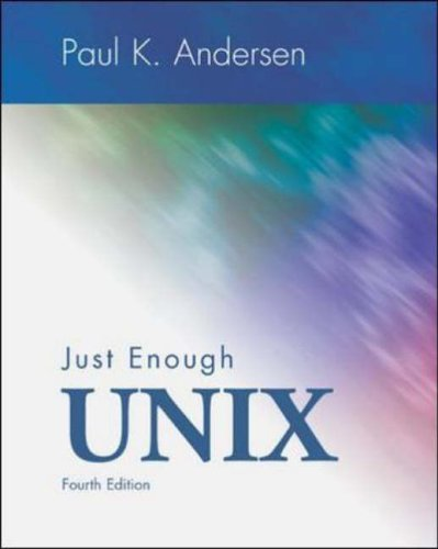 9780071151306: Just Enough UNIX (McGraw-Hill International Editions Series)