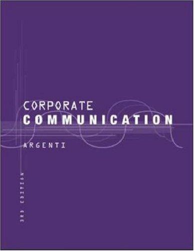 9780071151368: Corporate Communication