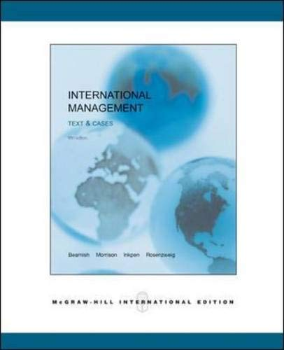 9780071151405: International Management: Text and Cases