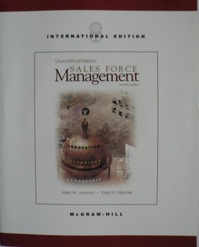 9780071151597: Churchill/Ford/Walker's Sales Force Management Seventh Edition