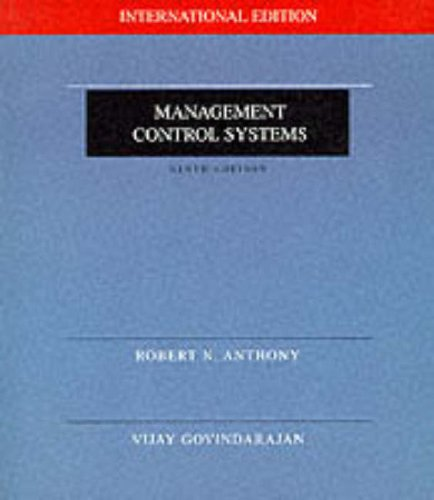 9780071151870: Management Control Systems