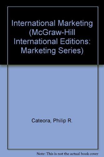 9780071152099: International Marketing (McGraw-Hill International Editions: Marketing Series)