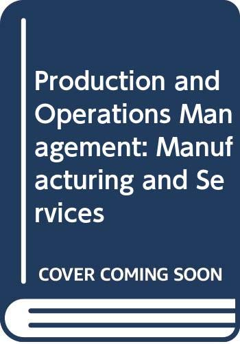 9780071152228: Production and Operations Management: Manufacturing and Services