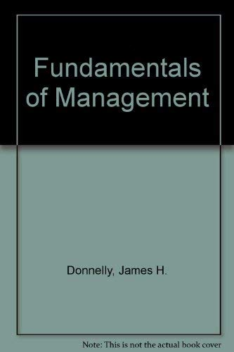 9780071152334: Fundamentals of Management: International