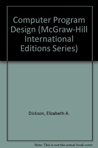 9780071152419: Computer Program Design (McGraw-Hill International Editions)