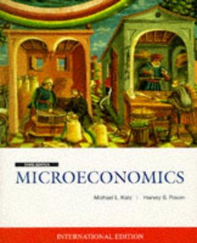 9780071153546: Microeconomics (McGraw-Hill International Editions Series)