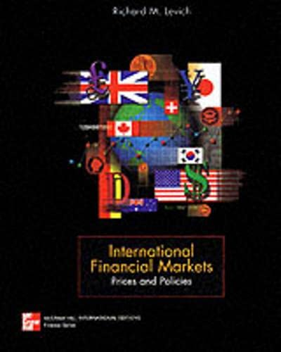 9780071153645: International Financial Markets: Prices and Policies (McGraw-Hill International Editions)