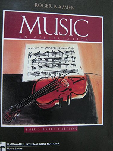 9780071153669: Music: An Appreciation (Third Brief Edition)