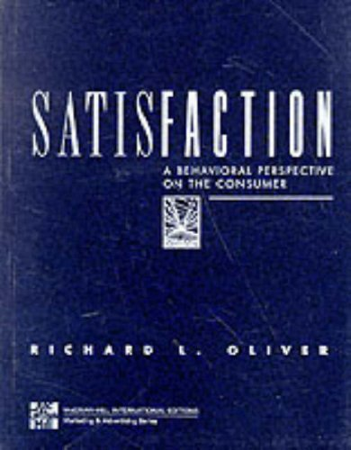 9780071154123: Satisfaction: A Behavioral Perspective on the Consumer (McGraw-Hill series in marketing)