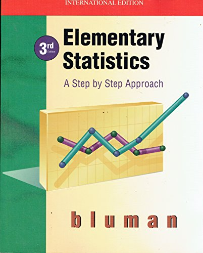 Elementary Statistics: A Step by Step Approach: Bluman, Allan G.