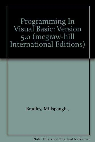 9780071154321: Programming In Visual Basic: Version 5.0 (mcgraw-hill International Editions)