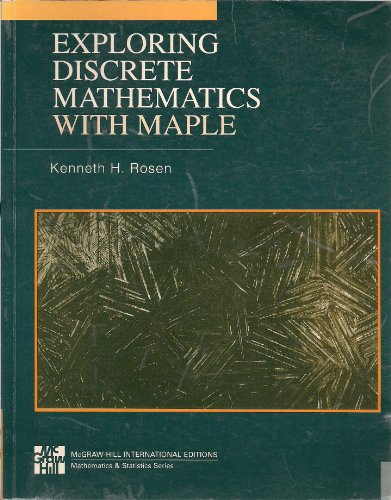 9780071155038: Exploring Discrete Maths with Maple