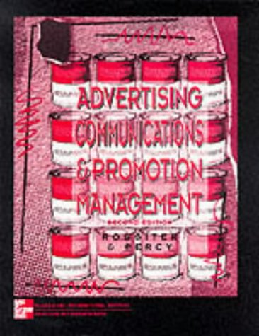 9780071155144: Advertising Communications and Promotion Management (McGraw-Hill International Editions Series)