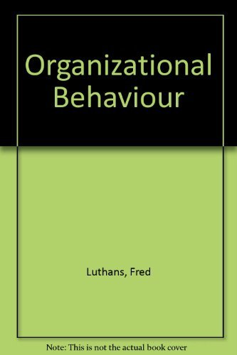9780071156059: Organizational Behaviour