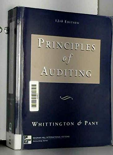9780071156400: Principles of Auditing (McGraw-Hill International Editions: Accounting Series)