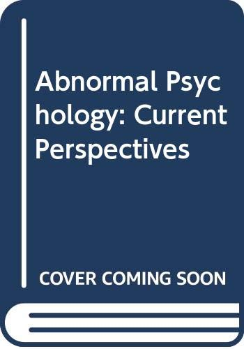 9780071156530: Abnormal Psychology: Current Perspectives