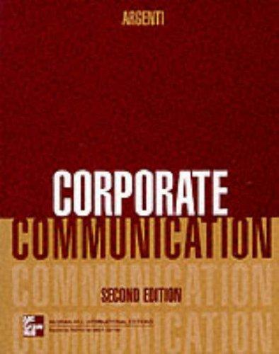 9780071156547: Corporate Communication